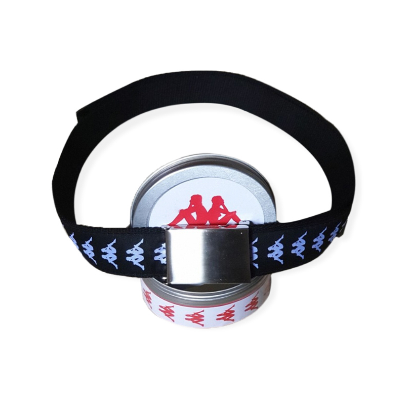 Kappa Authentic Unisex Canvas Belt + Placket- BKWE