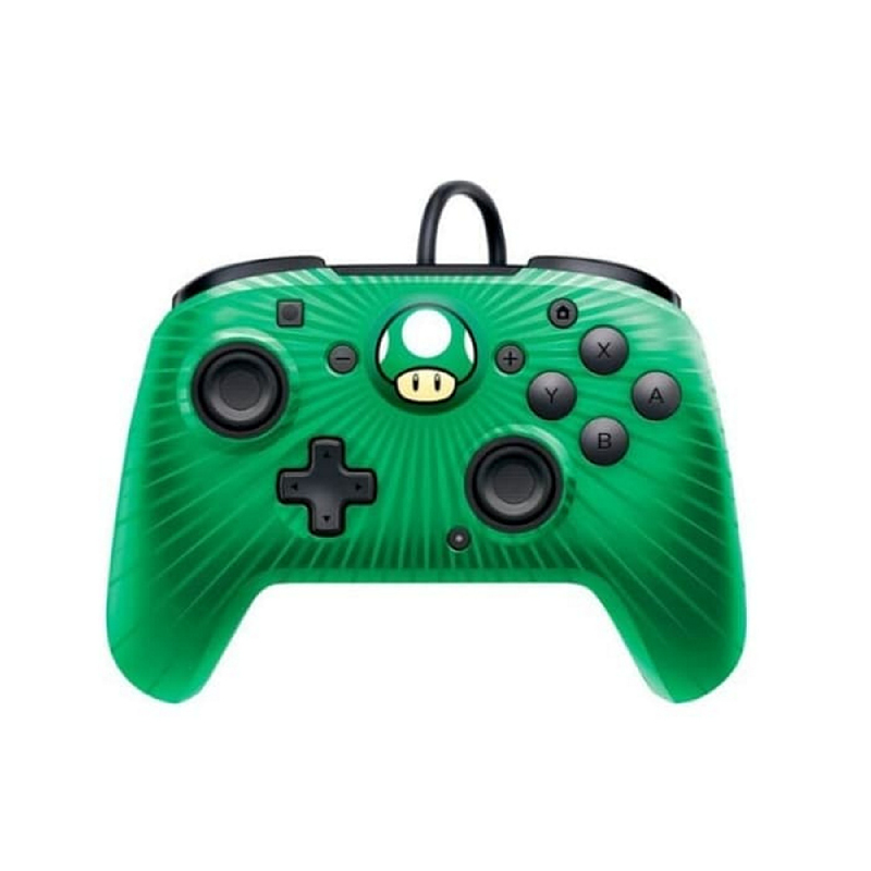 Nintendo Switch PDP Faceoff Wired Pro Controller 1Up Mushroom
