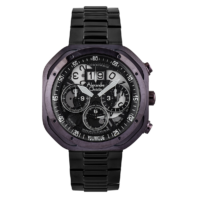 Alexandre Christie AC 6468 MC BEPBA Younique Man Chronograph Skeleton Dial Stainless Steel
