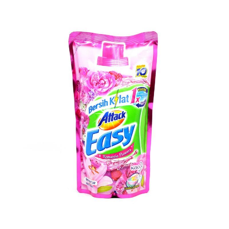 Attack Easy Detergen Cair Romantic Flower 800 Ml
