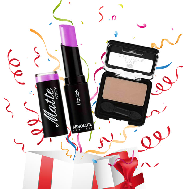 Absolute New York Matte Stick Lipstick Lilac + Eye Artiste Desert Bloom