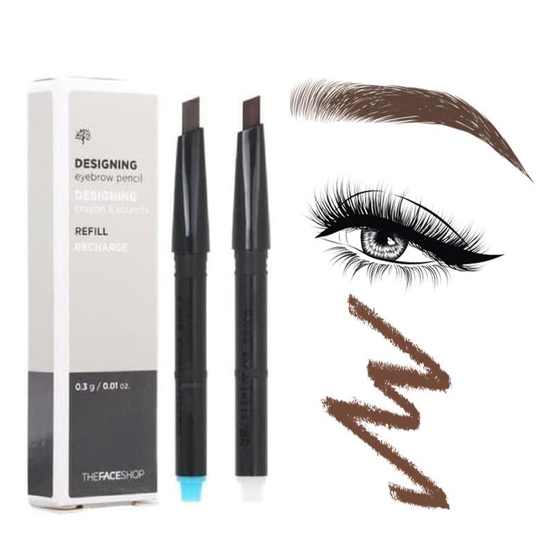 The Face Shop Designing Eyebrow Pencil 01 Light Brown (Refill)