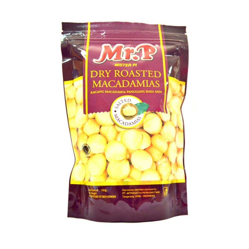 Mr. P Kacang Macadamia Rasa Asin 130g