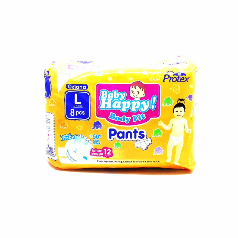 Baby Happy Diaper Pants L 8S