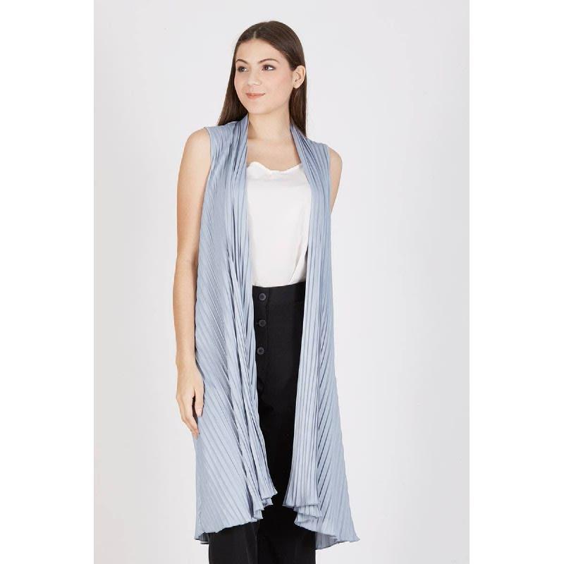 Percy Pleat Vest Grey