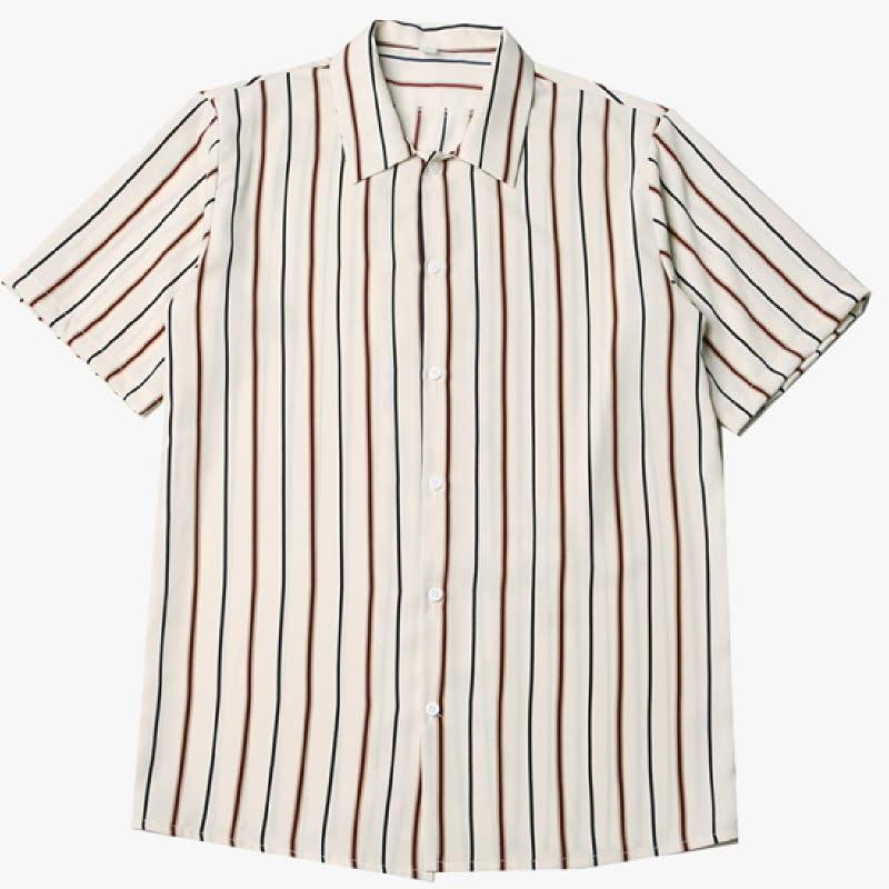 [BL2053] Unique Silkette Shirt - Light Beige