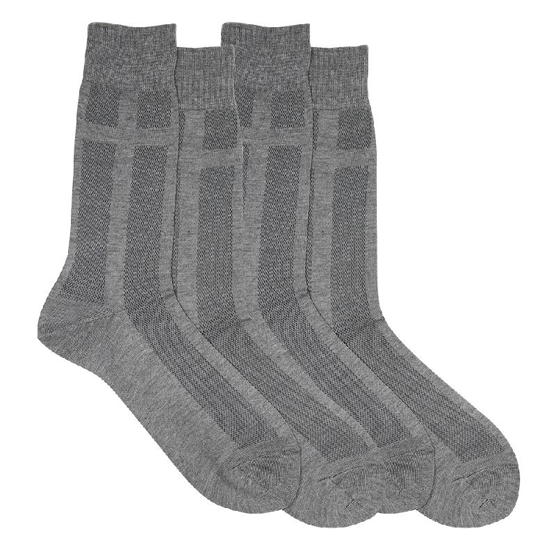 Gunze Men Casual Socks (2 Pairs) SG032Black