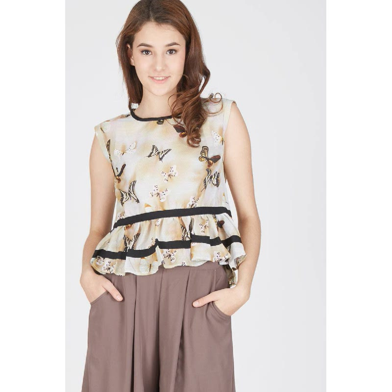 Francois Roden Top in Yellow
