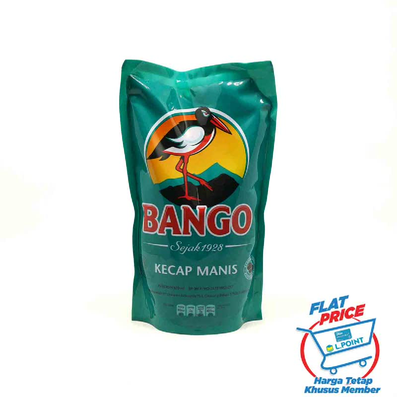 Bango Kecap Manis Refil 550 Ml (Flat Price)