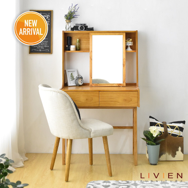 Livien Furniture Meja Rias Jesyln Maple
