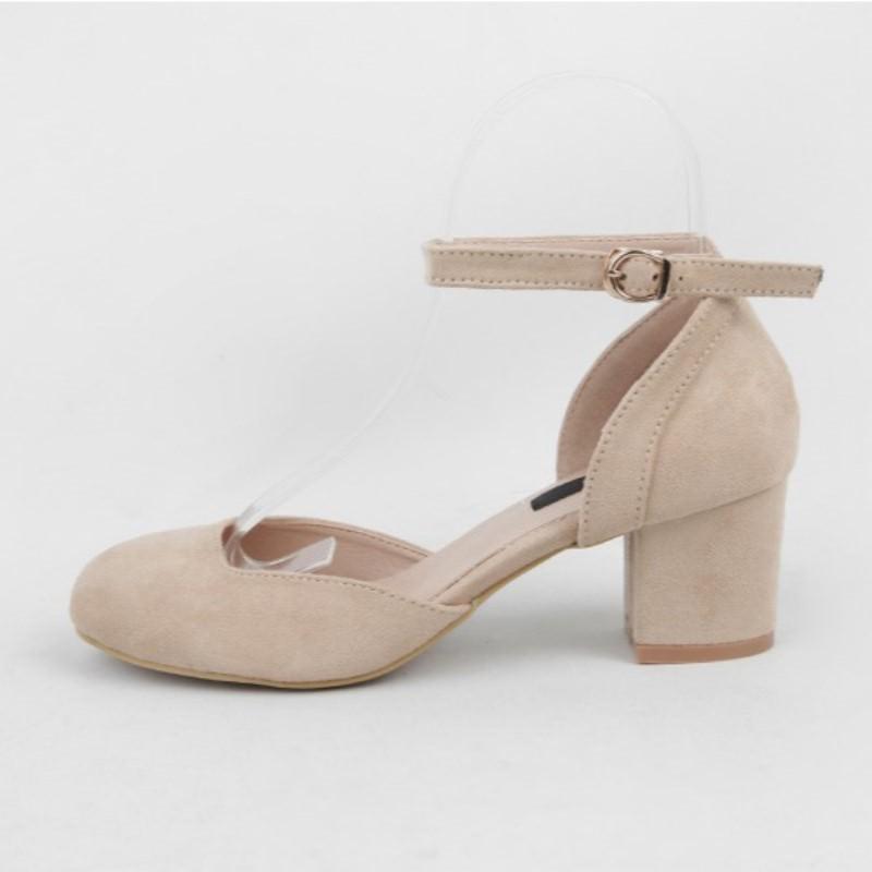 Paris Mary Jane Platform Pumps Heel (5.5cm) Beige
