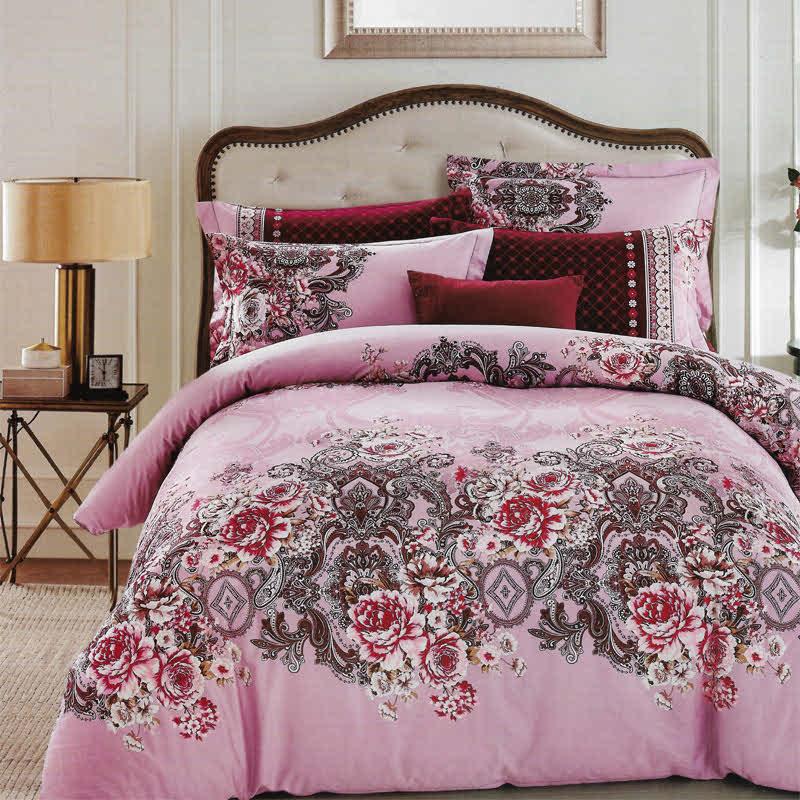 Sleep Buddy Set Sprei Royal Flower Cotton Sateen 120x200x30