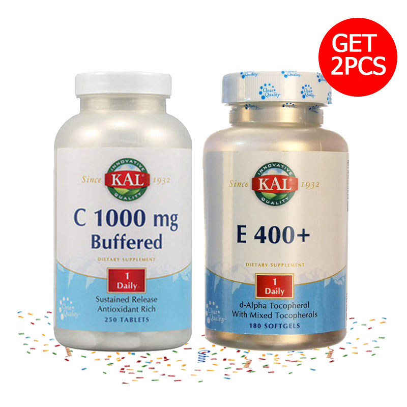 1000 Buffered - 250 Tablets + E 400 + 180 Capsules