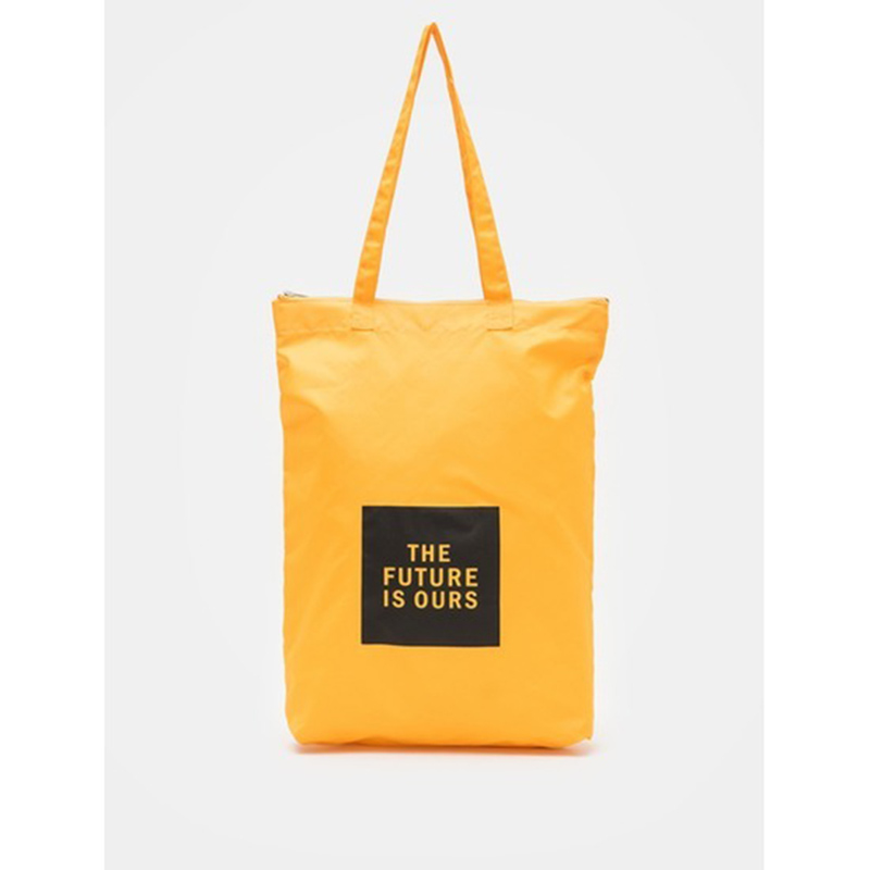 8 seconds Women Yellow Square Lettering Ecobag