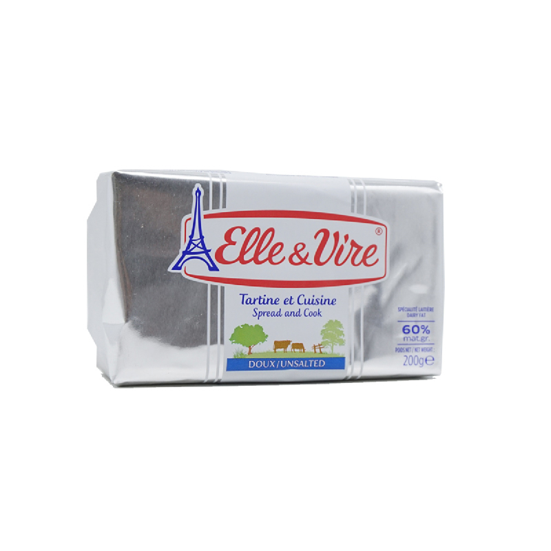 Elle & Vire Unsalted S&C 60% 200G