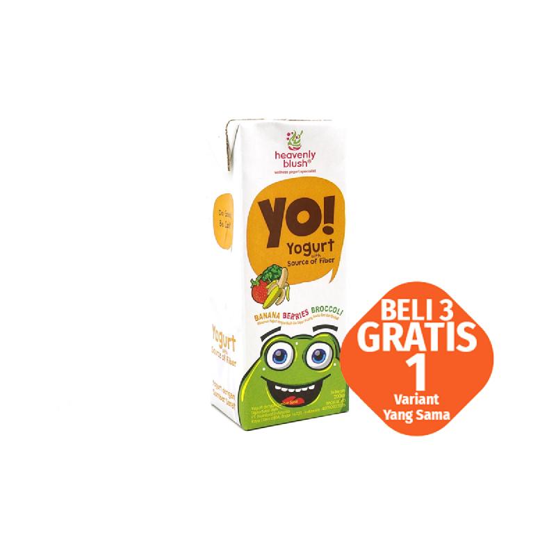 Heavenly Blush Yo Yogurt Banana Berries 200 Ml (Buy 3 Get 1)