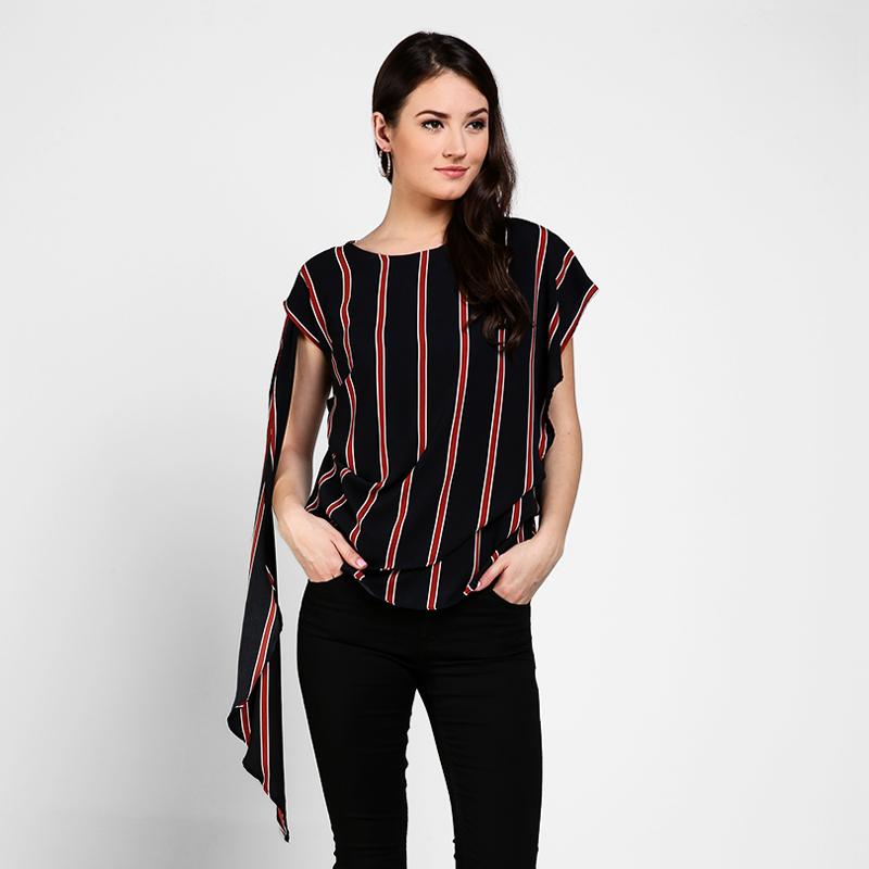 Basa Ara Blouse Black Stripes
