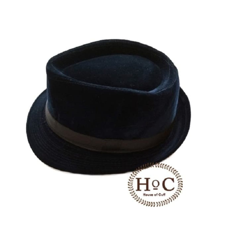 House Of Cuff Topi Fedora Hat Dark Blue Fedora Hat Corduroy