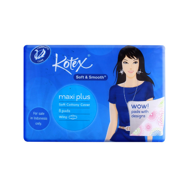 Kotex Soft & Smooth Maxiwing 8 S