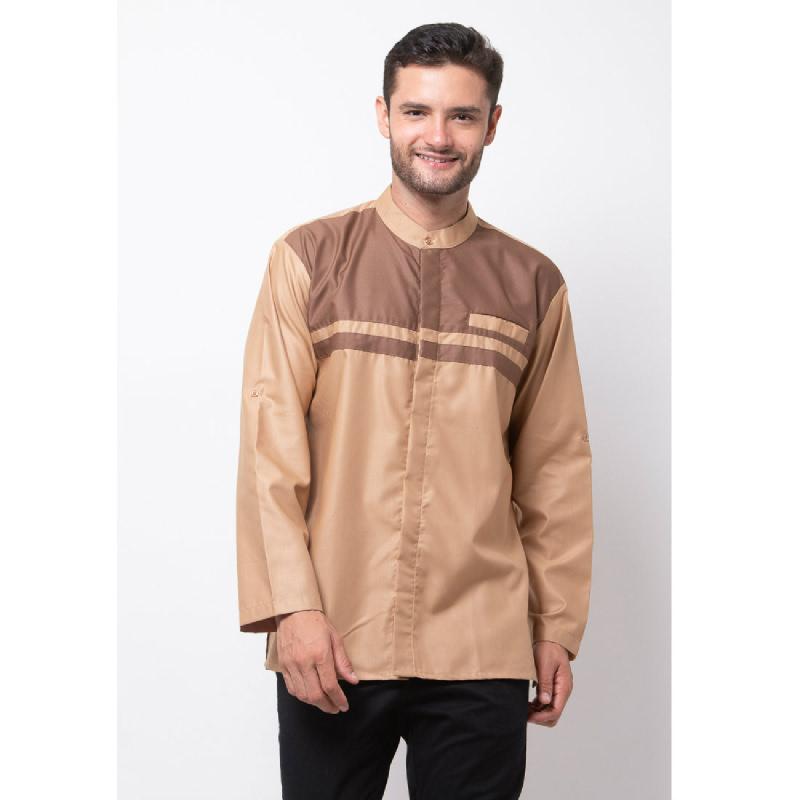 ALLEV Mahdi Long Shirt Cokelat Muda