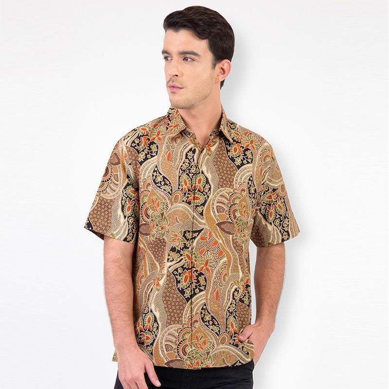 Batik Lengan Pendek A-SS-0747-BRN Brown