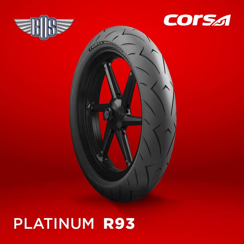 Ban Motor corsa R93 (Front-Rear)-120-60-17-Tubeless- GRATIS JASA PASANG