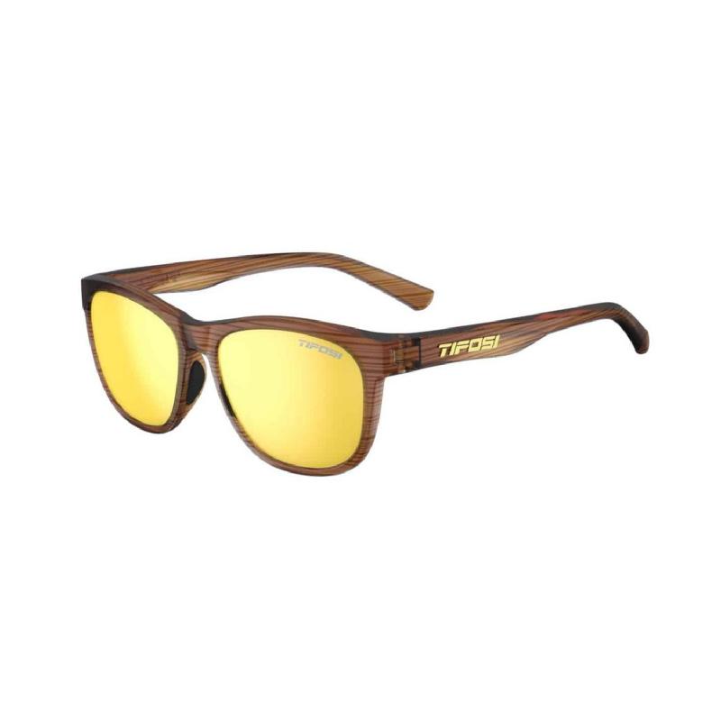 Tifosi Swank Woodgrain Sunglasses Smoke Yellow Lens