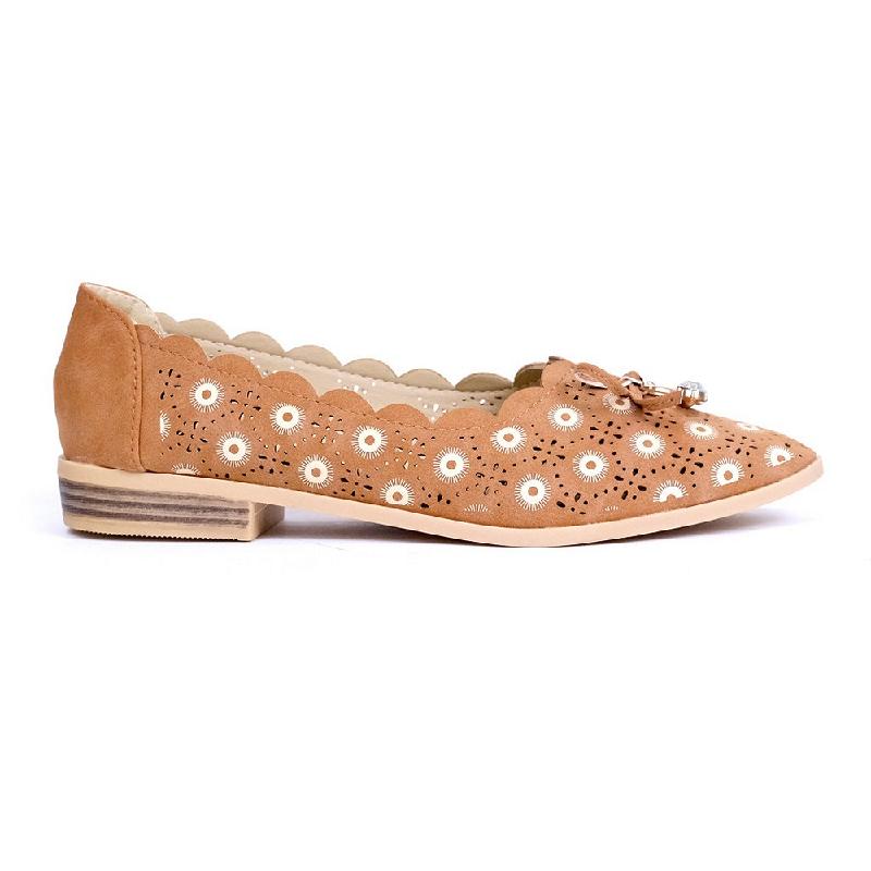 Austin Flat Shoes Kabonesa Brown
