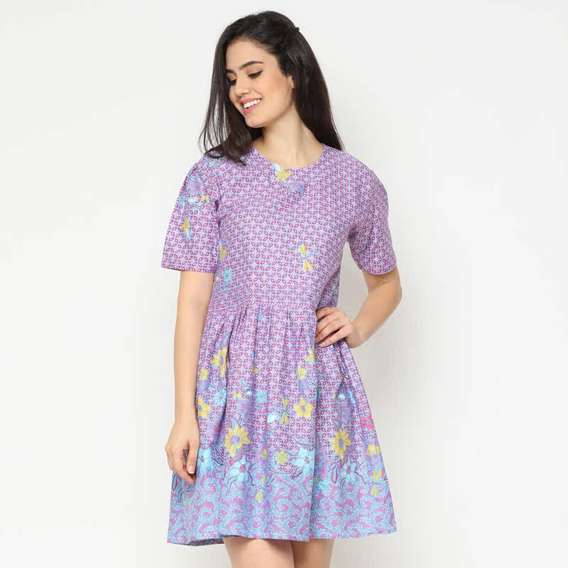 WINGGO Valerie Batik Dress Purple