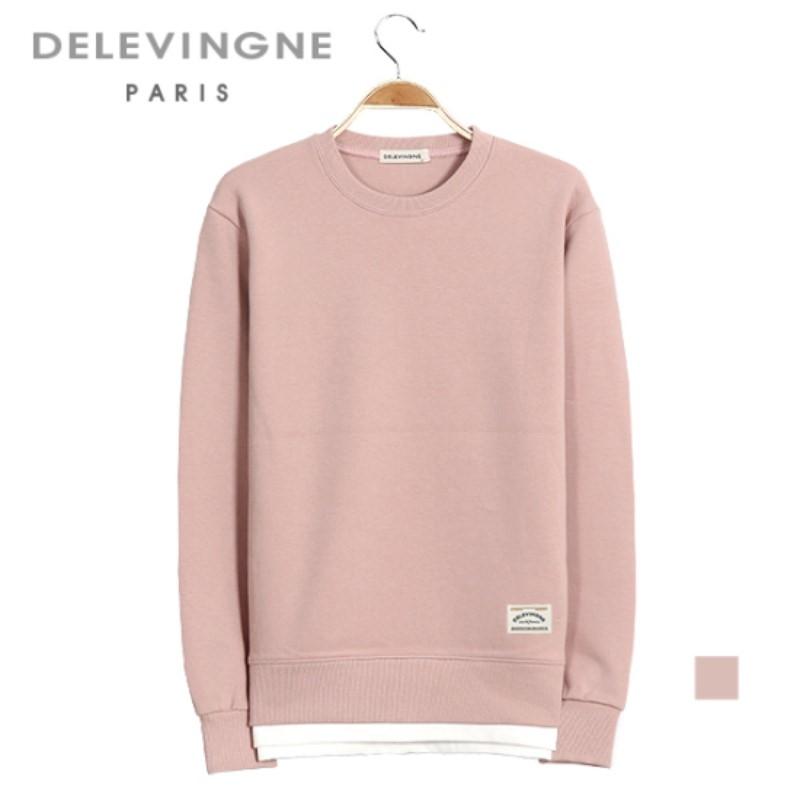 Claudia Layered Pink Sweatshirt Long Sleeve Big Size Unisex