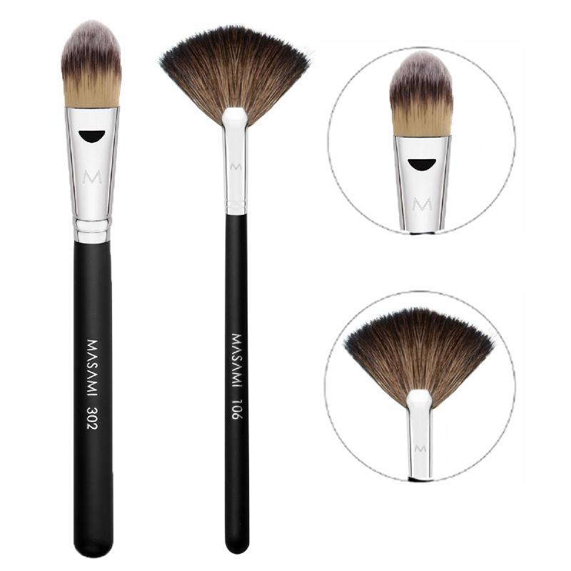 Masami 106 Fan Brush + 302 Foundation Brush