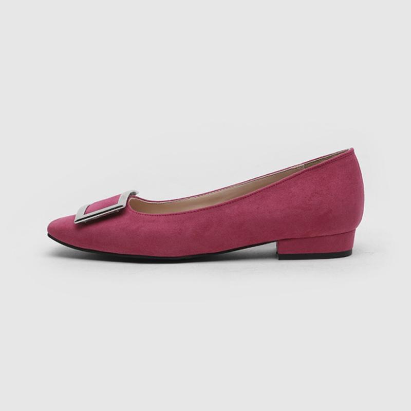 SAPPUN Ezer Run-Flats Square (2cm) - Hot Pink Suede