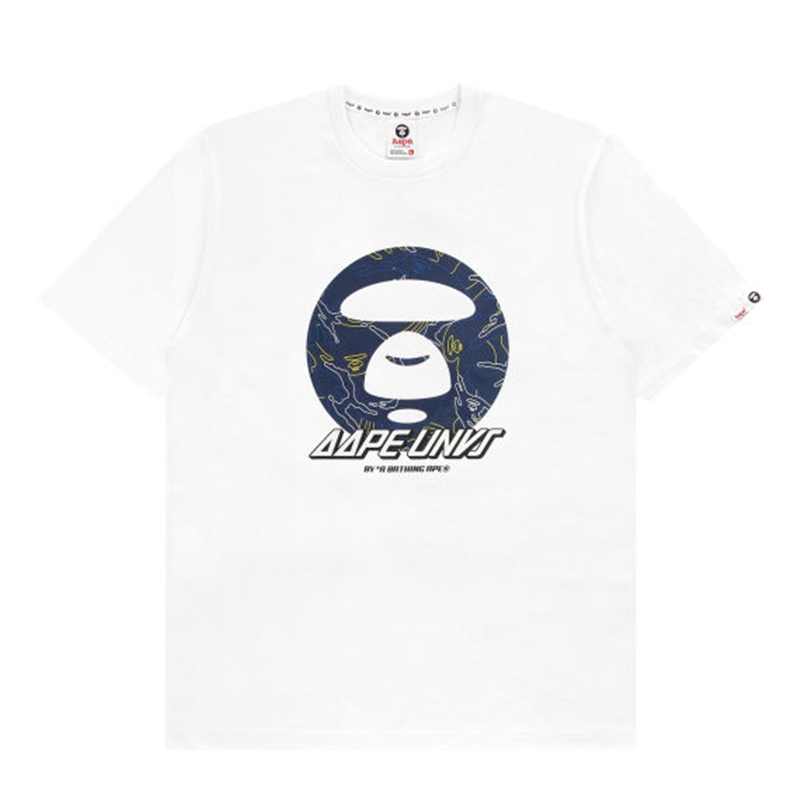 AAPE Ape Face Graphic Tee - WHITE
