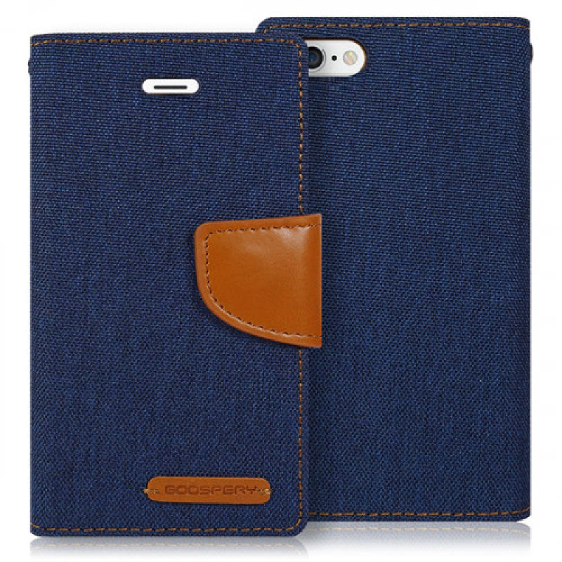 Goospery Canvas Diary for iPhone 6 - Navy