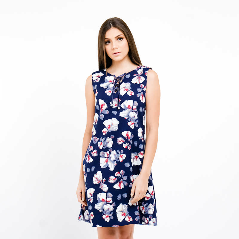Chanira Cora Dress Navy Print
