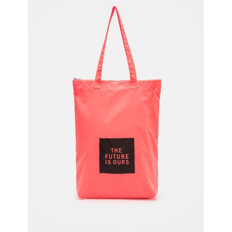 8 seconds Women Pink Square Lettering Ecobag