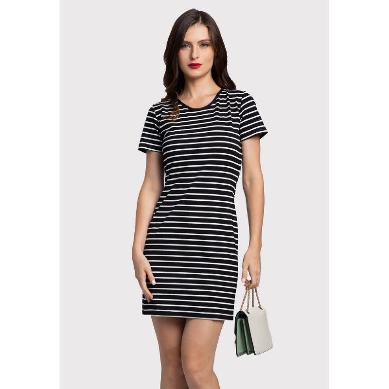 Lovadova Arden Premium Stripe Dress Multi