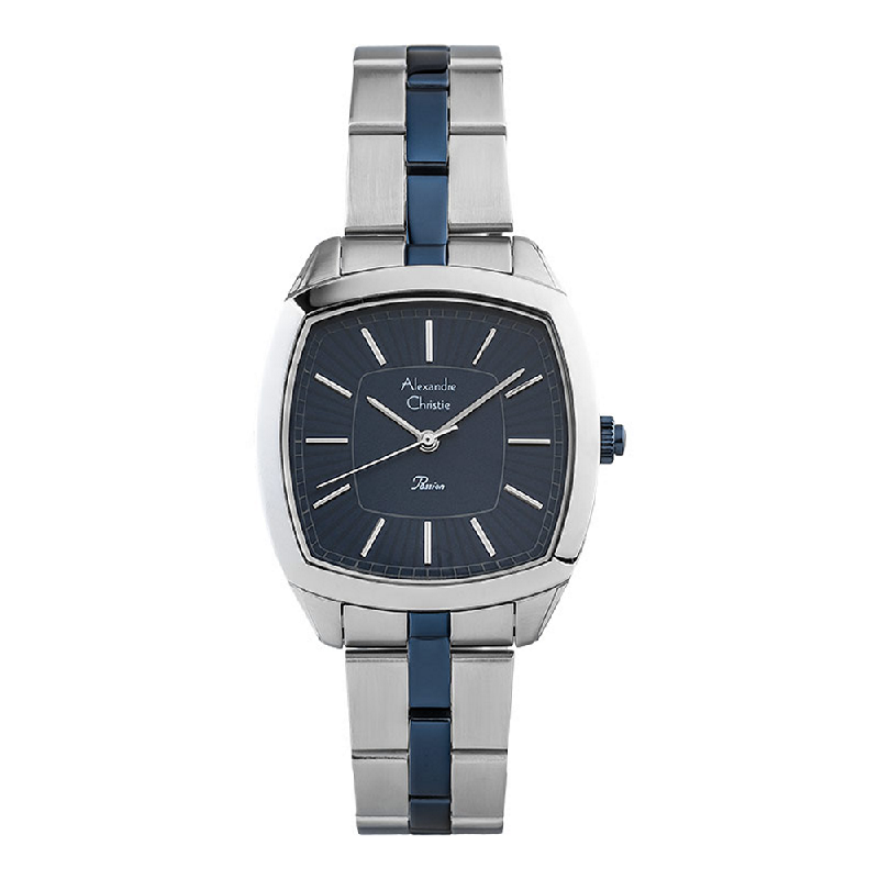 Alexandre Christie Passion AC 2883 LH BTUBU Ladies Navy Dial Dual Tone Stainless Steel Strap