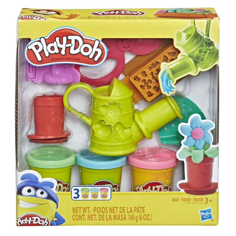 Play-Doh Growin Garden Toy Gardening Tools Set for Kids with 3 Non-Toxic Colors