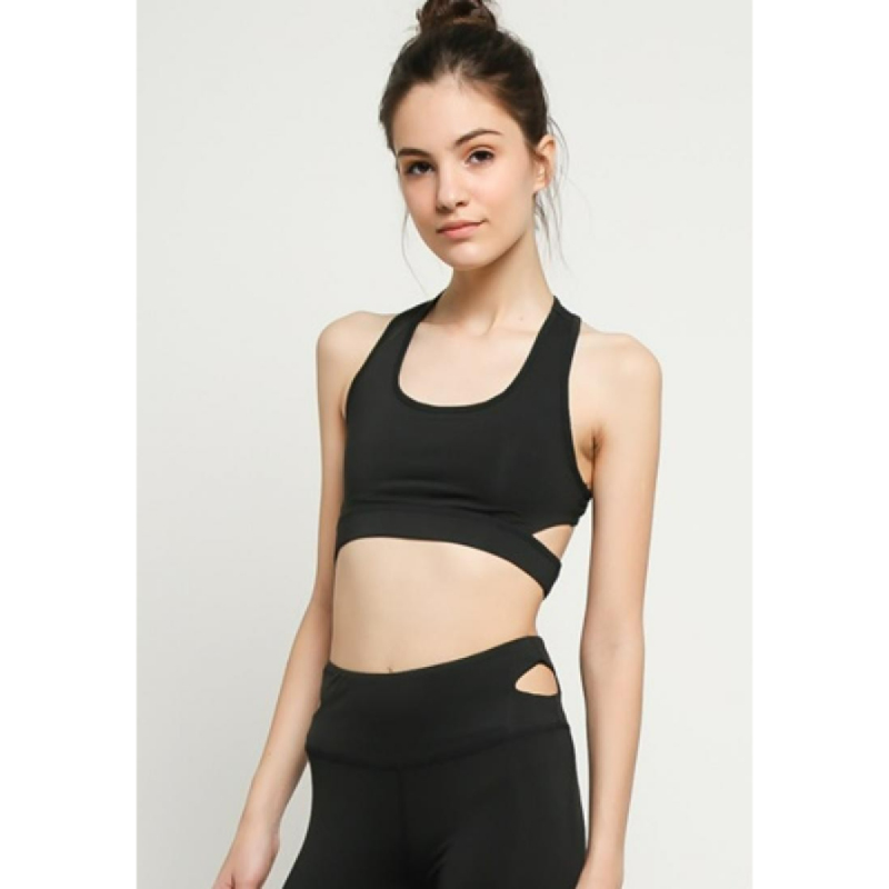 1 Set Baju dan Celana Senam Yoga Black Waldos