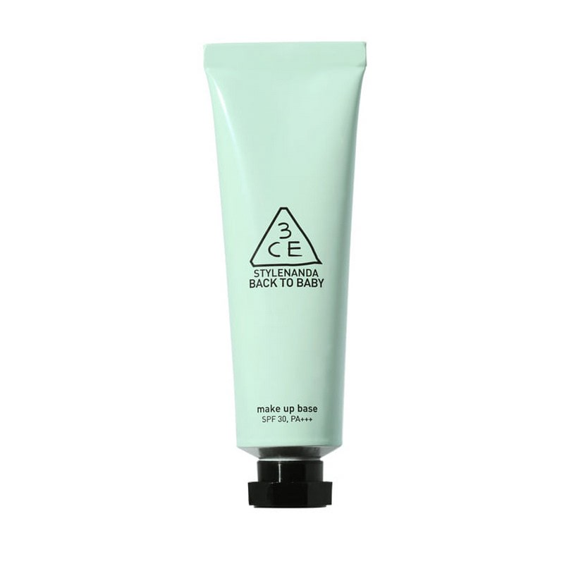 3CE Back to Baby Make Up Base - Mint Green