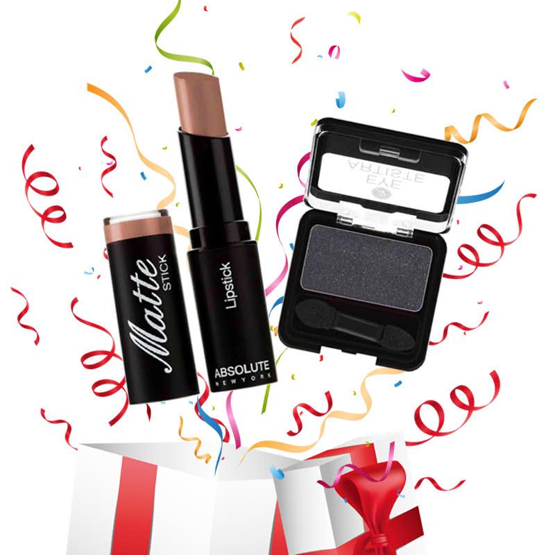 Absolute New York Matte Stick Lipstick Brown + Eye Artiste Enchanted