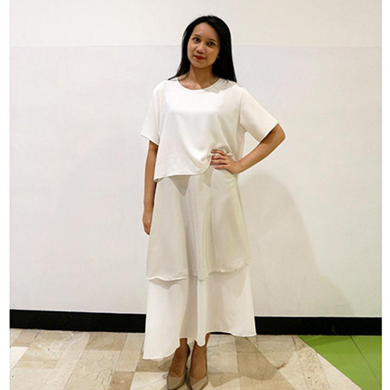 Basa Dara Dress White