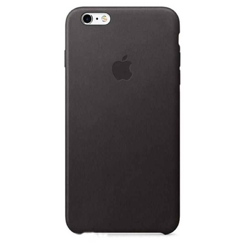 Apple Original iPhone 6S Plus - 6 Plus Leather Case Premium Black