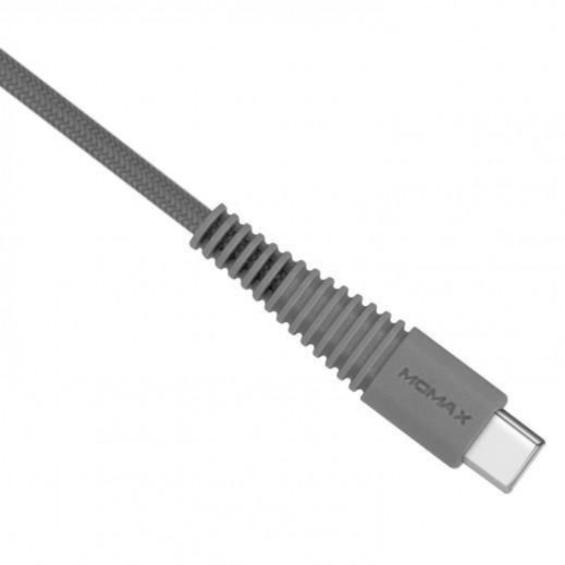 Momax MOMAX TOUGH LINK USB-A TO TYPE-C FABRIC CABLE (1.2M) GREY [DTA5A]