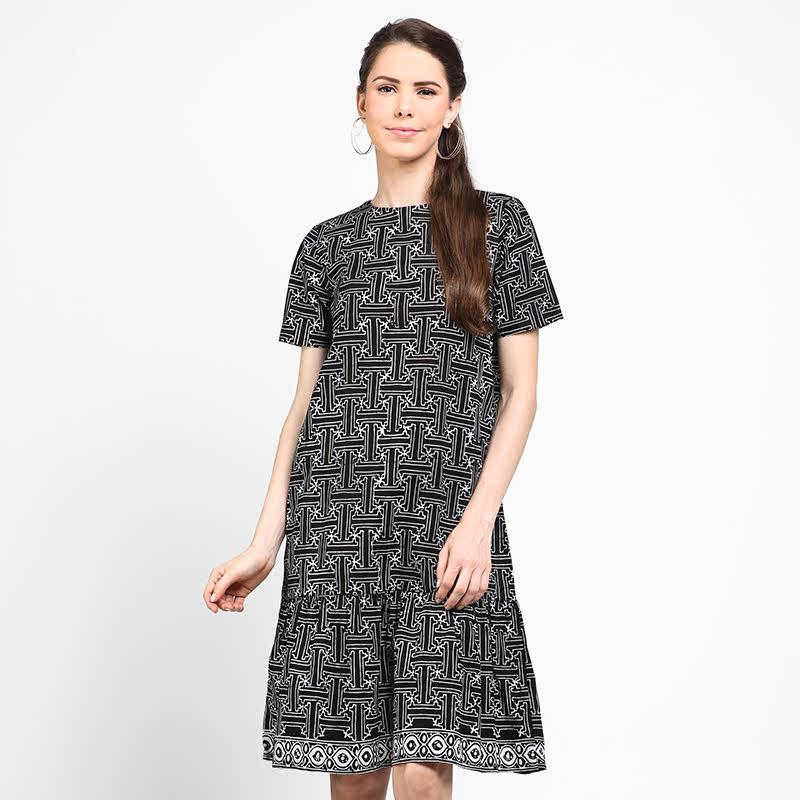 Astari Batik Dress Rumbai Black