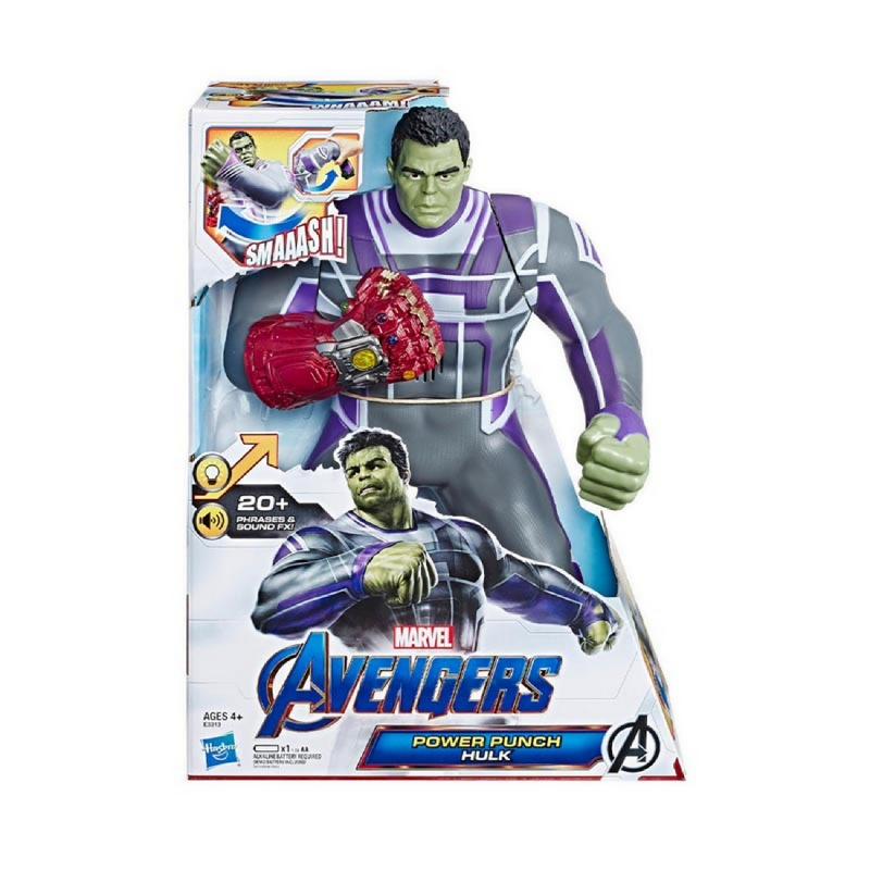 AVENGERS Marvel Avengers Endgame Power Punch Hulk 13.75-Inch Action Figure - AVSE3313