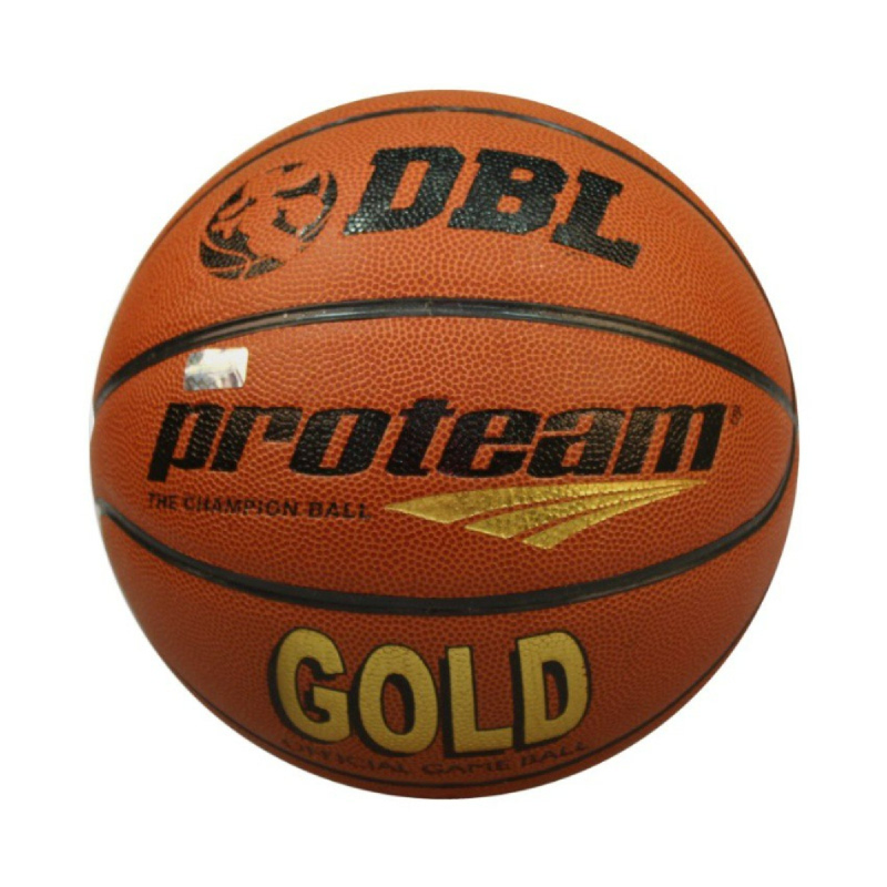 PROTEAM Bola Basket Gold DBL - Brown Size 7