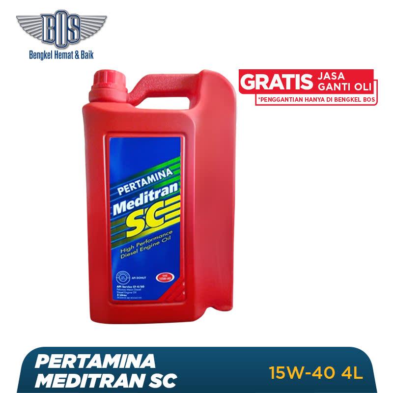 Pertamina Meditran SC Oli Mobil - 15W-40 - GALON - Gratis Jasa Ganti Oli dan Check Up Kendaraan