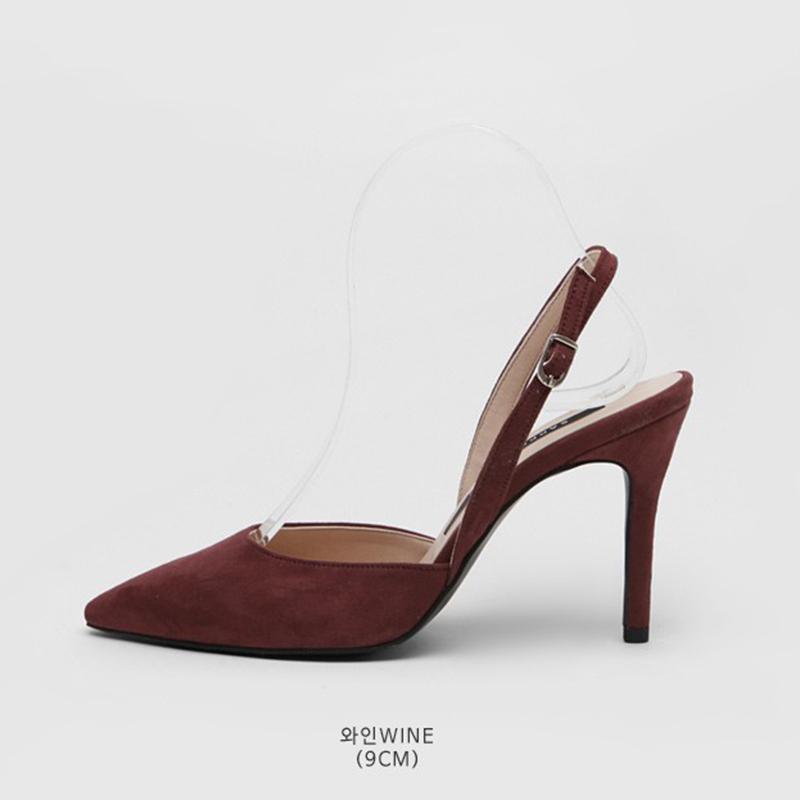 SAPPUN Agent Willie Stelliga Saturday Sling Back Heel (9cm) - Wine